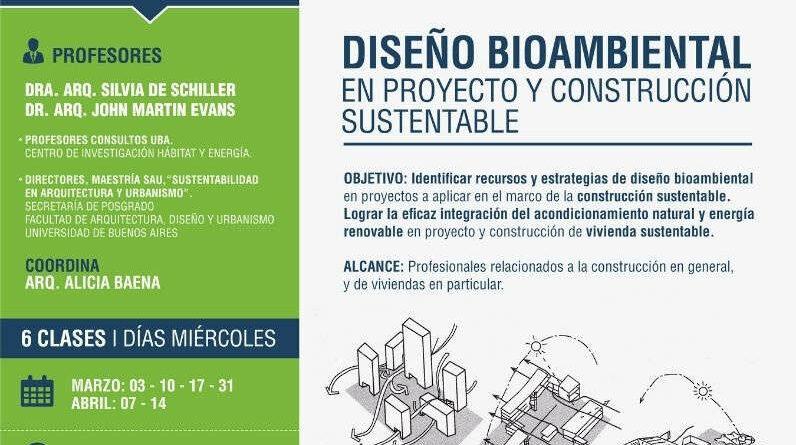 Curso DISEÑO BIOAMBIENTAL EN PROYECTO Y CONSTRUCCIÓN SUSTENTABLE