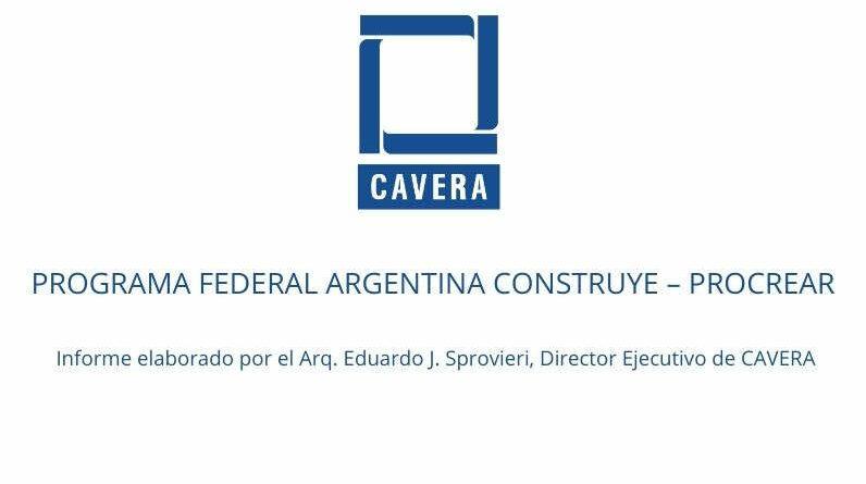 PROGRAMA FEDERAL ARGENTINA CONSTRUYE – PROCREAR.