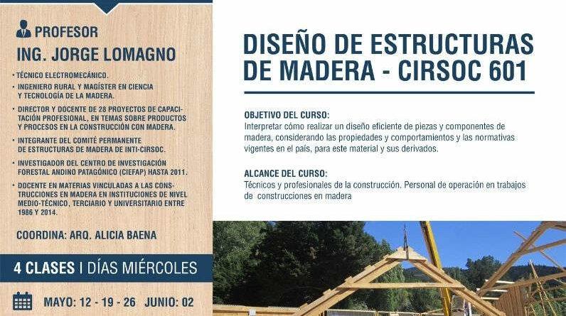 Curso DISEÑO DE ESTRUCTURAS DE MADERA – CIRSOC 601
