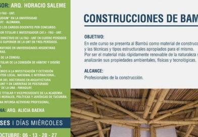 """Curso """"CONSTRUCCIONES DE BAMBÚ"""""""