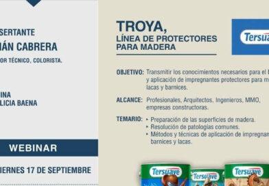"""Webinar TERSUAVE """"TROYA, LÍNEA DE PROTECTORES PARA MADERA"""""""